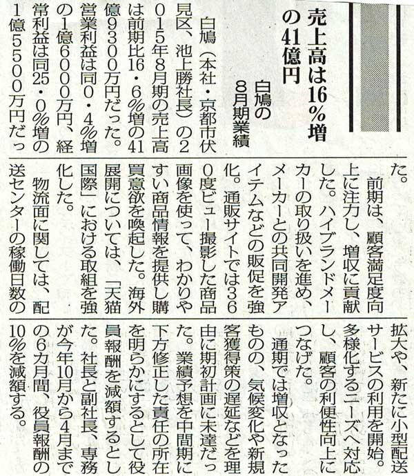 通販新聞にフォトオートメーションについて掲載されました。